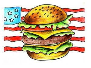 Рисунок гамбургера - этап 7