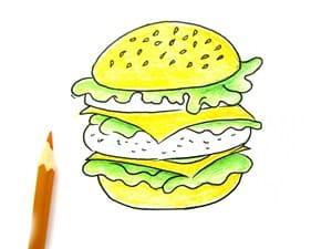 Рисунок гамбургера - этап 4