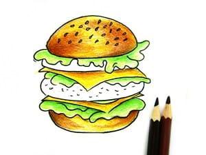 Рисунок гамбургера - этап 5