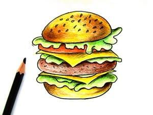 Рисунок гамбургера - этап 6
