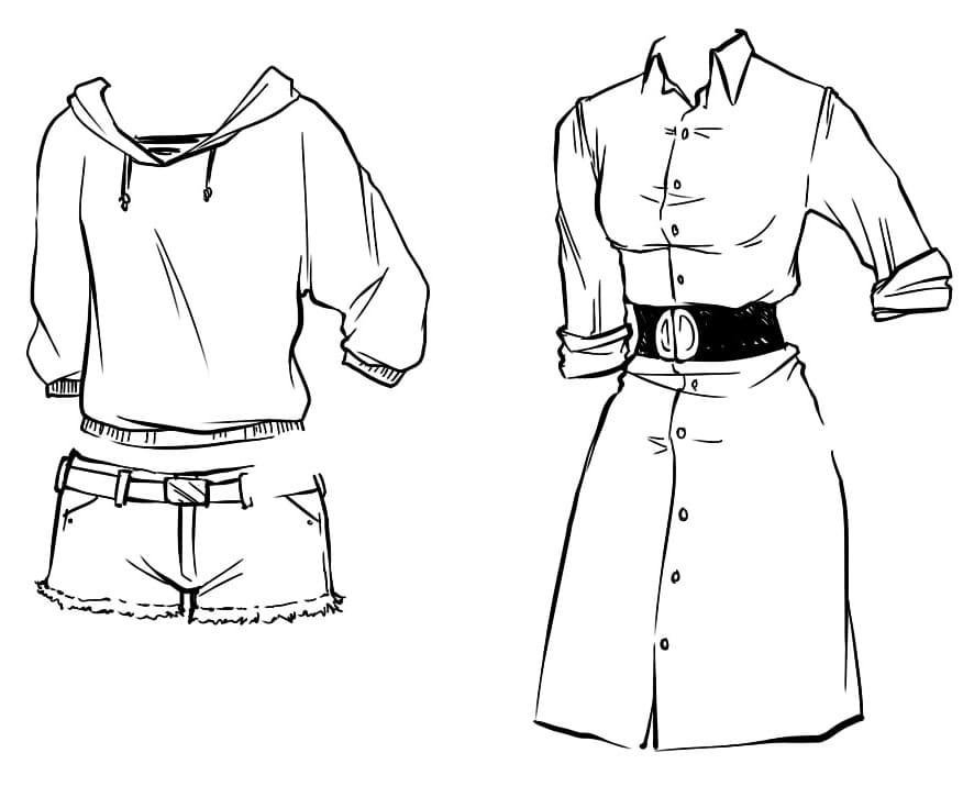 Аниме одежда рисунки карандашом